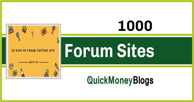 1000 Top High PR9-PR1 Signature Allow  Dofollow Forum Sites List