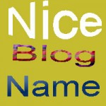 How to choose nice blog name?