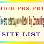 Free Top High PR1 To PR8 Blog Commenting Site List For Backlink